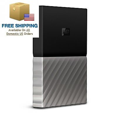 WD 2TB My Passport Ultra Portable External Hard Drive - USB 3.0 Black-Gray...