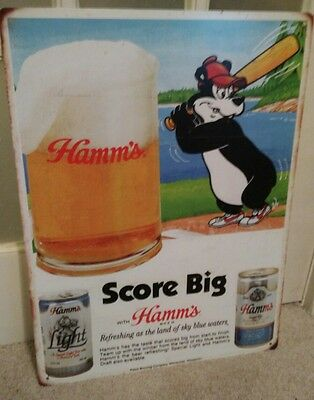 Hamm's Beer Refreshing As The Sky Blue Waters Score Big Hamm's Bear Sign Bar Man