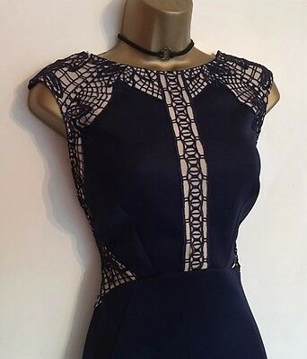 Nwot Ladies Lipsy Wedding Day Evening Cocktail Party Dress Size Uk 12