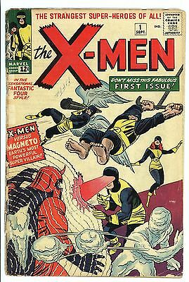 X-Men #1 1963 Very Nice Lower Mid Grade Unrestored 1st App of X-Men and Magneto