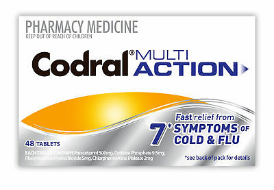 Codral Multi Action Tablets 48 NEW Cincotta Chemist