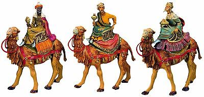 Fontanini by Roman Three Kings on Camels Set 3-Piece 5-Inch Each NEW