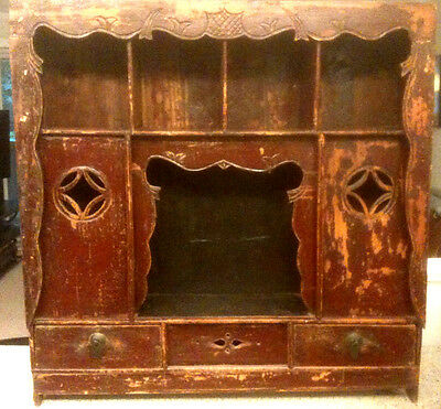 Antique Carved Chinese Tea Cabinet Alter