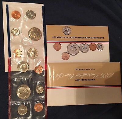 1986 P &D Uncirculated Coin Sets: Historical Info Included!