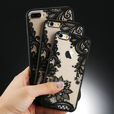 Ultra-thin Clear Silicone Flower Patterned Case Cover For iPhone XS MAX XR 7 8