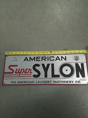 American super sylon the American laundry machinery Co. sign