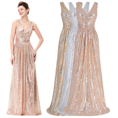 Elegant Long Formal Evening Maxi Celebrity Pageant Party Prom Wedding Dress
