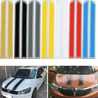 DIY Car Auto Hood Vinyl Stickers Decal Scratched Engine Cover Styling Decoration