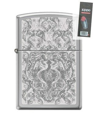 Zippo 250 Anne Stokes Collection Dragon Motif RARE Lighter + FLINT PACK