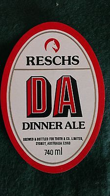 Resch's Dinner Ale Beer Label
