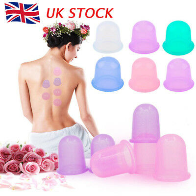 New Silicone Massage Vacuum Body and Facial Cup Anti Cellulite Cupping UK Ageing