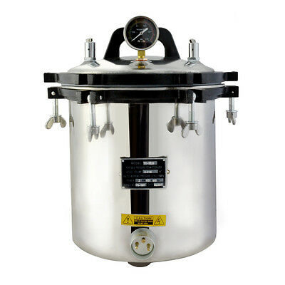 Autoclave Sterilizer Hosptial Heath Lab Equipment Stainless Steel Highlevel18L!