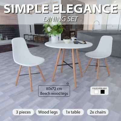 Replica Retro Eames Black/White Round Dining Table w/without Chairs Kitchen Cafe