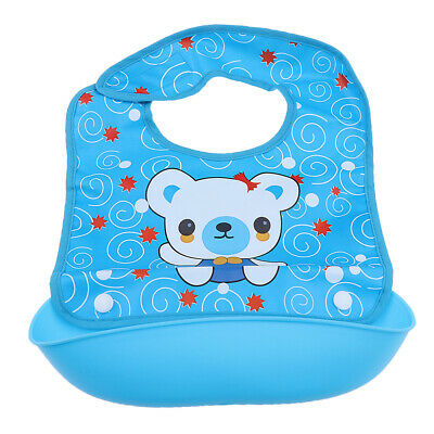 Newborn Baby Lunch Bibs Silicone Waterproof Baby Kids Cute Animals Bibs BPA Free