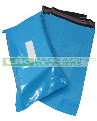 "50 LARGE BLUE 17 x 21"" PLASTIC MAILING BAGS SELF SEAL POSTAGE POST SACKS - NEW"