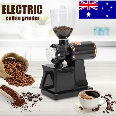 AU 220V 100W Electric Conical Espresso Coffee Bean Grinder Coarse Mill Grinding