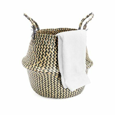 32*28cm Seagrass Belly Basket Natural Storage Plant Foldable Nursery Laundry Bag