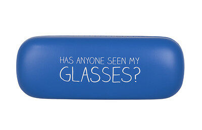 'Has Anyone Seen My Glasses?' Happy Jackson Blue Glasses Case by Wild & Wolf