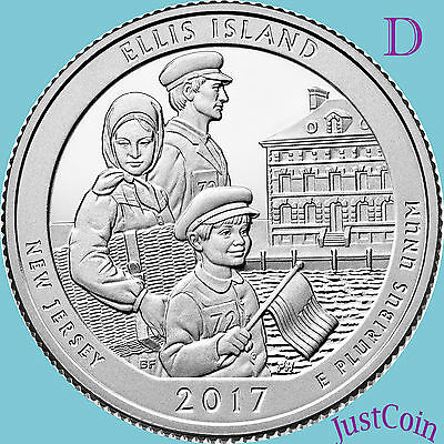 2017-D Ellis Island / Statue Of Liberty (Nj) Quarter Uncirculated