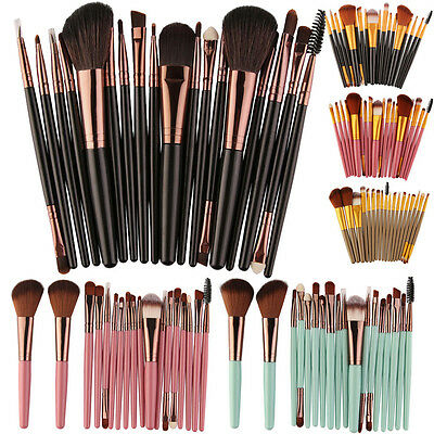 18PCS Make up Brushes Set Foundation Eyeshadow Eyeliner Powder Kabuki Style New