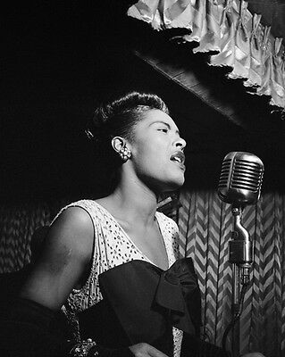 1947 Jazz Singer BILLIE HOLIDAY Glossy 8x10 Photo Reprint Songwriter Poster