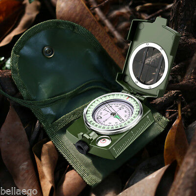 Waterproof Military HANDHELD Compass Metal Case with Pouch For Adventure Travel