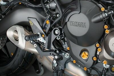 LighTech Yamaha MT-09/MT09 Tracer/XSR900 2013> Adjustable Rearsets