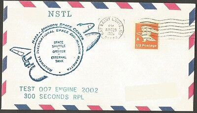Us 1978 Air Mail Cover Space Shuttle Test 007 Engine 2002 Nasa Space Center