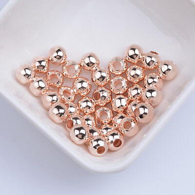Rose Gold Alloy Smoth Round Spacer Beads 3MM 4MM 5MM 6MM 8MM 10MM
