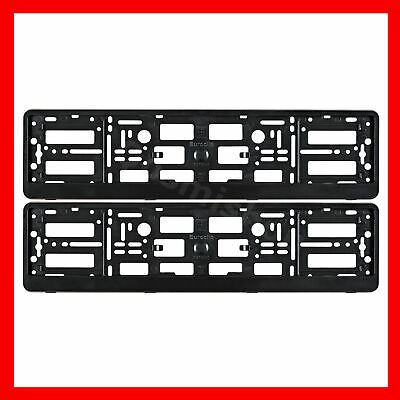 Set of 2 Registration Plate Surround Holder Frame for VW /AUDI Car Tuning