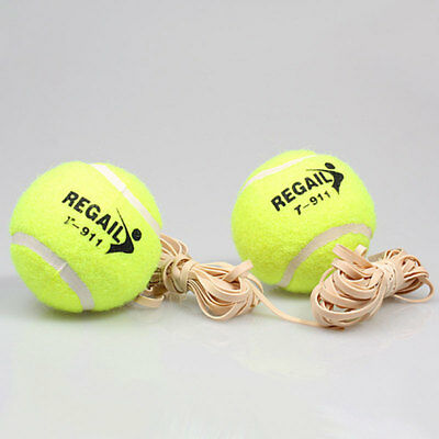 Tennis Training Ball With Rubber Rope Beginners Trainer Single Train Tool