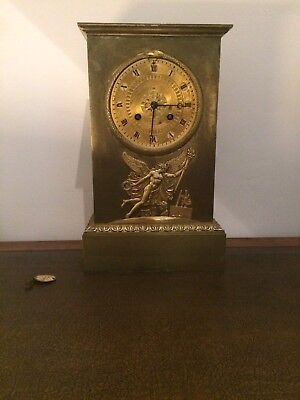A RARE 19th CENTURY FRENCH GILT CLOCK