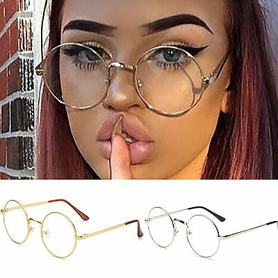 Womens Mens Round Clear Transparent Lens Glasses Fashion Eyewear