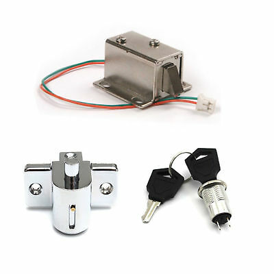 Aluminum Catch Push Lock S1203 Electric Solenoid Lock Assembly 12V 350mA