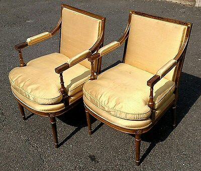 MUSEUM Pair Antique 19C English ZEBRA Wood REGENCY Open Armchairs Rosewood Chair