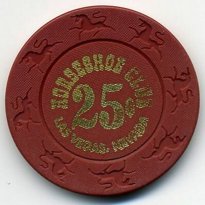 25 cent casino chip from the closed Downtown Las Vegas Horseshoe Club