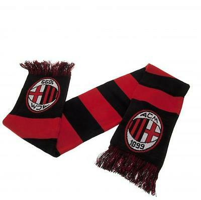 AC Milan Bar Scarf Red Black Crest Gift New Official Licensed Football Product