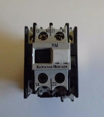 KLOCKNER MOELLER 240V CONTACTOR DIL00M-10 Fitted With 11 DILM Auxillary Contact