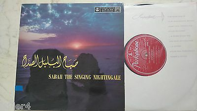 SABAH THE SINGING NIGHTINGALE *ARABIC SINGER*UK PARLOPHONE 1st PRESS 60s VINYL*