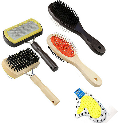 Pet Grooming Brushes Wooden Combs Glove Mitts Dog Care Unbranded and JW