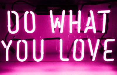 """Do what you love HOME Pink Lamp Bar Beer Pub Foods POSTER NEON LIGHT SIGN 14""""X7"""""""
