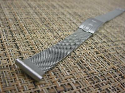 """Gemex Stainless Steel Art-Deco Foldover Clasp 13mm 1/2"""" Lug End  WatchBand W4141"""