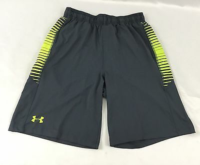 Under Armour MEN'S Athletic Shorts Loose Heat Gear Gray 1291317 Size XL