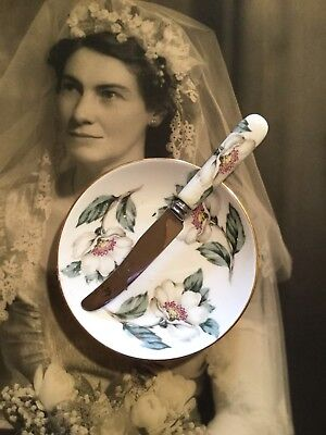 Crown Staffordshire Afternoon Tea Butter Dish And Knife