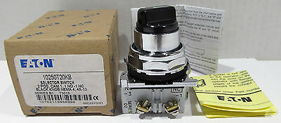 New Eaton Selector Switch 2 Position 10250T20KB Ser. B1