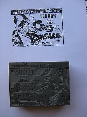 CRY OF THE BANSHEE 1972 Original printer's ad block Vincent Price horror witches