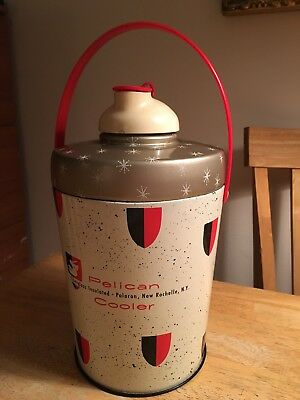 Vintage Poloron Pelican Insulated Glass Liner Cooler 1970's