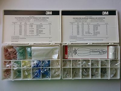 415pc 3M Insulated & Non-Insulated Solderless Terminals Kit 2W521 4X257 + Extra