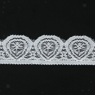 Black Embroidered Tulle Lace Trim Edge Mesh Net for DIY Wedding Sewing Craft