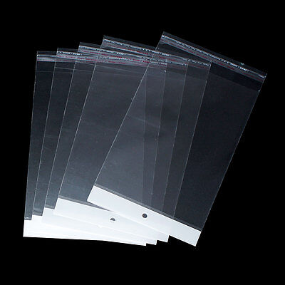 "100 Clear Resealable Self-Sealing Bags, 18.7cm x 14cm (7-3/8"" x 5-1/2"") bag0071"
